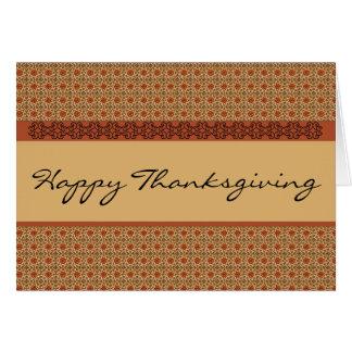 Acción de gracias feliz tarjeta de felicitación