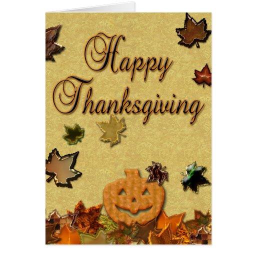 Acción de gracias feliz - tarjeta de felicitación
