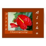 Acción de gracias feliz - tarjeta de la hawaiana
