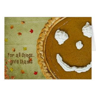 Acción de gracias feliz tarjeta pequeña