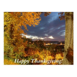 Acción de gracias feliz tarjeta postal