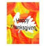 Acción de gracias feliz tarjeta publicitaria