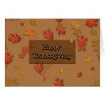 Acción de gracias feliz tarjetas