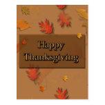 Acción de gracias feliz tarjetas postales