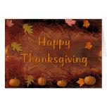 Acción de gracias feliz tarjeton