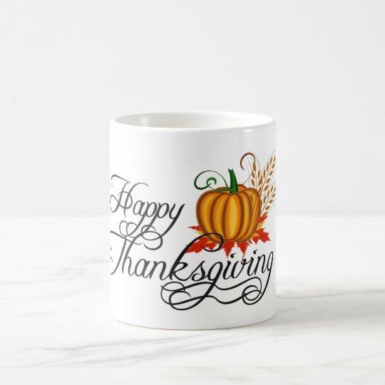 Acción de gracias feliz - taza de café