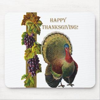Acción de gracias feliz Turquía del vintage Alfombrilla De Ratones