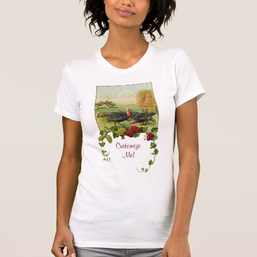 Acción de gracias feliz Turquía del vintage Camisetas