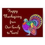 Acción de gracias feliz Turquía del vintage Felicitacion