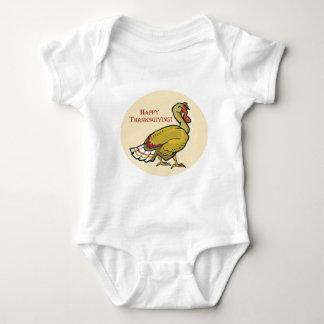 Acción de gracias feliz Turquía Mameluco De Bebé