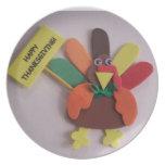 Acción de gracias feliz Turquía Platos