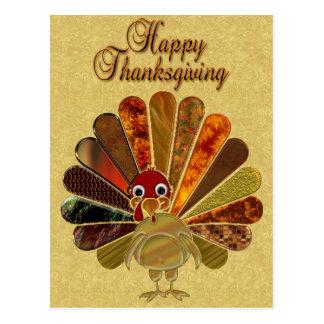 Acción de gracias feliz Turquía - postal