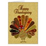Acción de gracias feliz Turquía - tarjeta de
