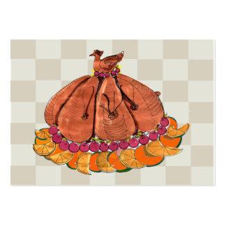 Acción de gracias festiva Placecard Tarjetas De Visita Grandes
