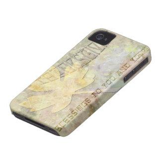 Acción de gracias frondosa iPhone 4 Case-Mate protectores