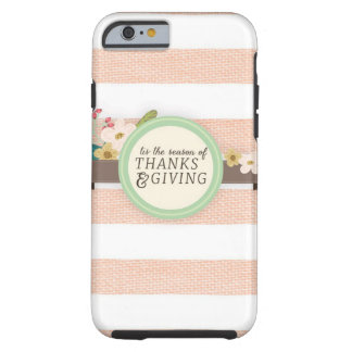 acción de gracias funda resistente iPhone 6