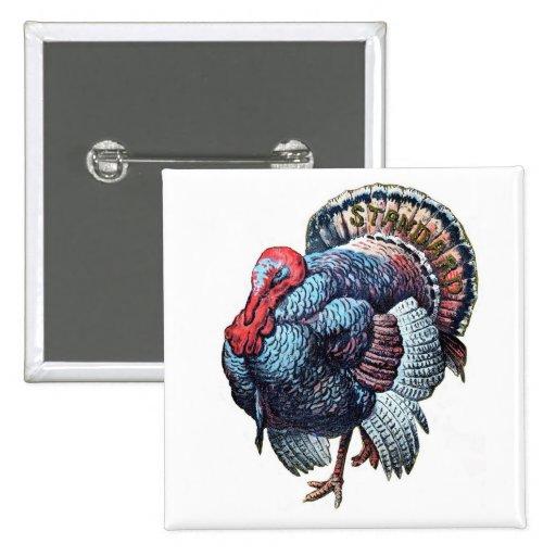 Acción de gracias grande Turquía del vintage Pins