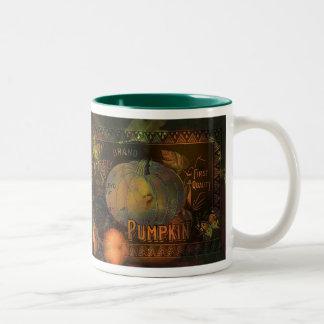 Acción de gracias ingeniosa de las calabazas taza de café de dos colores