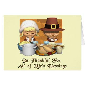 Acción de gracias Las bendiciones de la vida Tarjetón