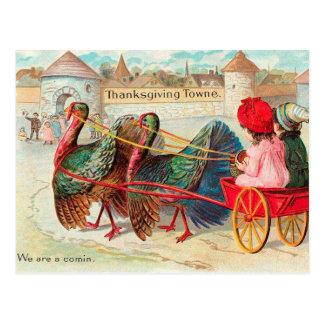 Acción de gracias linda del vintage tarjetas postales