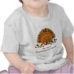 Acción de gracias linda Turquía del dibujo animado Camiseta
