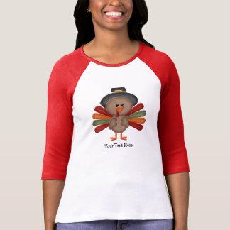 Acción de gracias linda Turquía (personalizable) Camiseta