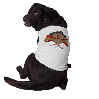 Acción de gracias linda Turquía (personalizable) Camisa De Mascota