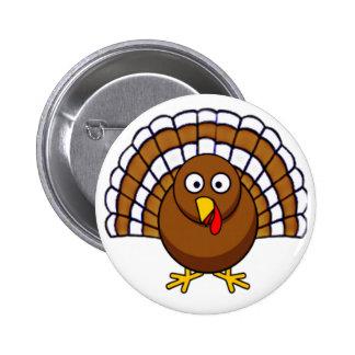Acción de gracias linda Turquía Pin Redondo 5 Cm