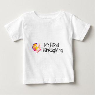 Acción de gracias mi primera acción de gracias playera para bebé