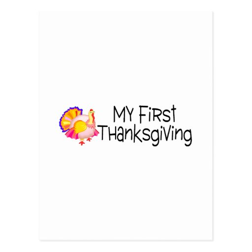 Acción de gracias mi primera acción de gracias tarjeta postal