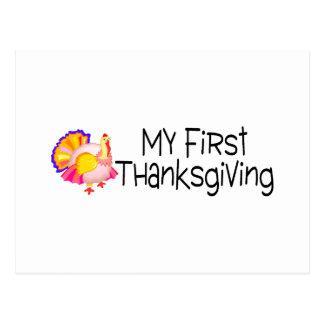 Acción de gracias mi primera acción de gracias tarjetas postales