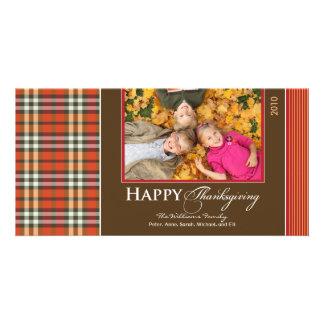 Acción de gracias Photocard de la tela escocesa de Tarjeta Personal