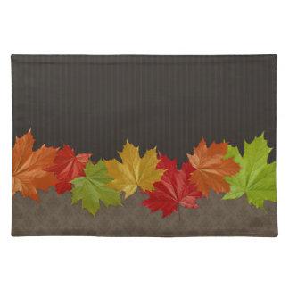 Acción de gracias Placemat de las hojas de arce de Manteles Individuales