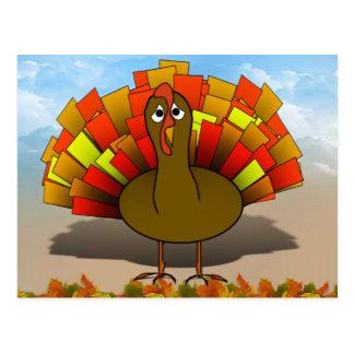 Acción de gracias preocupante Turquía del dibujo Postal