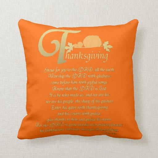 Acción de gracias - salmo 100 almohadas