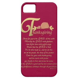 Acción de gracias - salmo 100 iPhone 5 Case-Mate cobertura