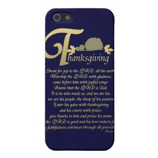 Acción de gracias - salmo 100 iPhone 5 coberturas