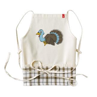 Acción de gracias tradicional Turquía en azul Delantal Zazzle HEART