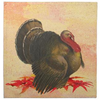 Acción de gracias Turquía 1 Servilletas Imprimidas