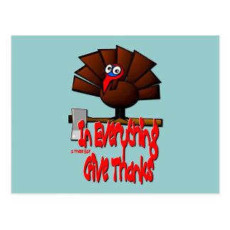 Acción de gracias Turquía - en TODO dé las gracias Postal