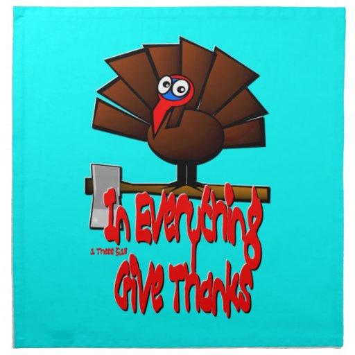 Acción de gracias Turquía - en TODO dé las gracias Servilleta