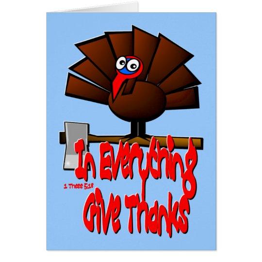 Acción de gracias Turquía - en TODO dé las gracias Tarjeta De Felicitación