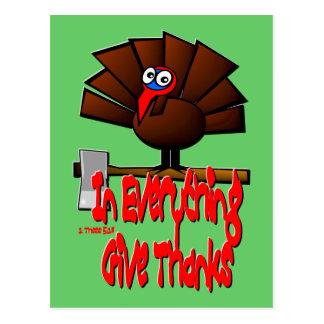 Acción de gracias Turquía - en TODO dé las gracias Tarjetas Postales