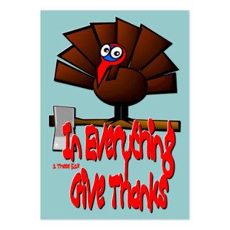 Acción de gracias Turquía - en TODO… Tarjeta de la Tarjetas De Visita Grandes