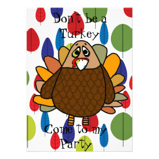 Acción de gracias Turquía Invitación Personalizada