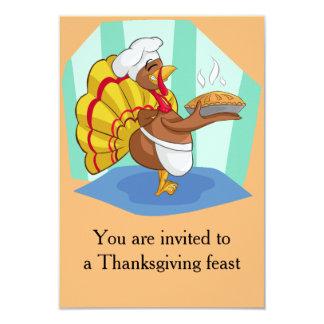 """Acción de gracias Turquía Invitación 3.5"""" X 5"""""""