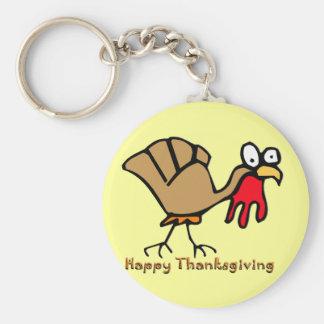 Acción de gracias Turquía Llavero Redondo Tipo Pin