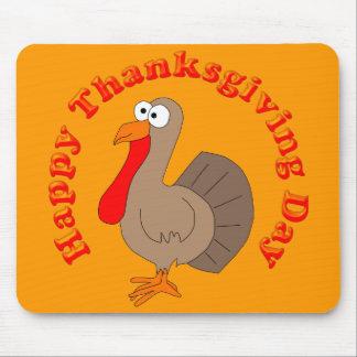Acción de gracias Turquía Mousepad de Hapy
