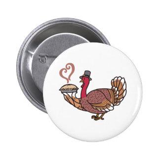 Acción de gracias Turquía Pin Redondo 5 Cm