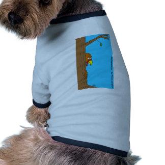 Acción de gracias Turquía que oculta detrás de árb Camisetas Mascota
